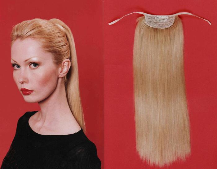 Хвосты шиньоны из натуральных волос